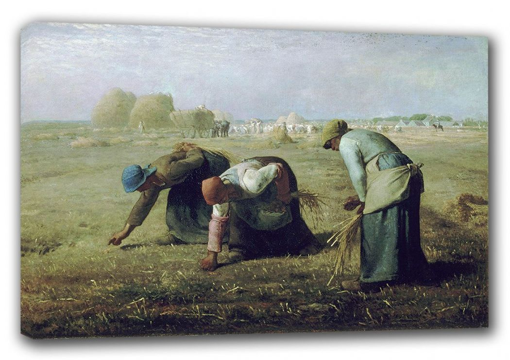 Millet, Jean-Francois: The Gleaners.  Fine Art Canvas. Sizes: A3/A2/A1 (00242)